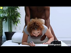 Girl Cums Like Crazy During Casting