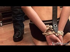 Restrained with a belt...