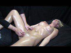 Hot Blonde Gets Oil Massage and Happy Ending
