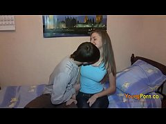 Teen sexy girl sex with her frined in her bedroom