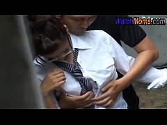 School girl doing sex with slum boy