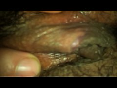 thumb wifes hairy  pussy