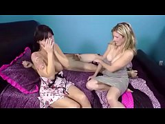Angie Noir in Mother and Daughter Fuck on Bed