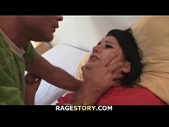 Guy punish his brunette wife for cheating