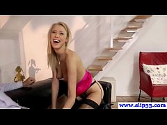 Young teen amateur in lingerie pounded by old m...