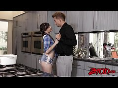 Young temptress Alison Rey facialized by big st...