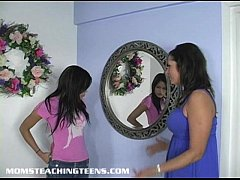 Teen learning all about sex from a mom