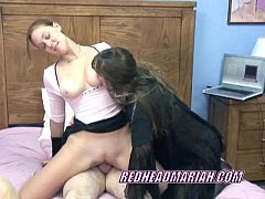 Swinging Mariah getting banged in a threesome