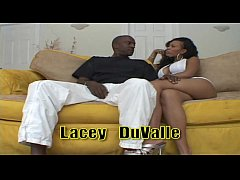 Stunning Lacey DuValle in White Dress Takes a Black Dick