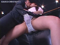 secretary gets fingerbanged in her panties