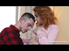 Little Redhead Teen Karry Slot stuffs her pretty piehole with a hard cock, deep throating until she gapes her butthole for some hot anal action! Cumshot? Damn straight! Full Flick at Private.com!