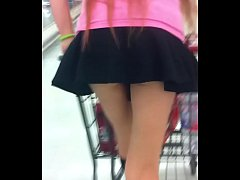 cute young girl up skirt