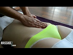 Clip sex Sensual Gently Massage of Belly - Hot and Sexy European Babe - Camel toe tight panties