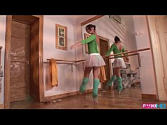 Aleska Diamond is a horny ballerina that gives ...