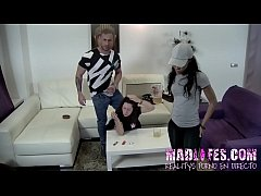 Noemi Jolie has a double session with two of the guys