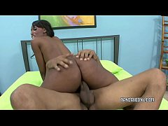 thumb busty babe c odi bryant takes a dick in her black pussy