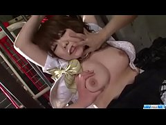 Meina gets both her tight holes pumped hard