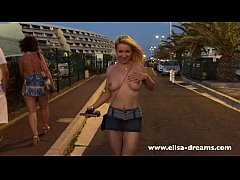 Back to the car naked in cap d'Agde