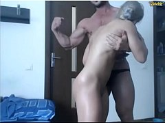 thumb gorgeous cou ple of bodybuilders on web cam no sex no sound