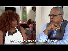 DON'T FUCK MY DAUGHTER - Ebony Teen Kendall Woods Sucks Dick Behind Parents' Backs