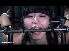 Master's vigorous punishment left cute Asian slave's pussy drenched with nectar