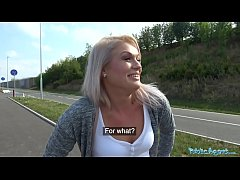 Public Agent Sexy blondes public blowjob and ho...