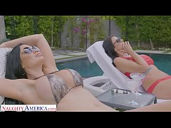Naughty America Best friends share a cock while on staycation