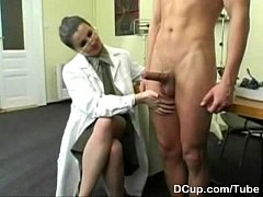 Busty Medical Captain enjoying new recuits cum ...