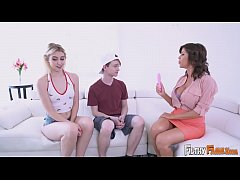 FILTHYFAMILY - Big Tits MILF Alexis Fawx Threesome With Step Daughter And Step Son
