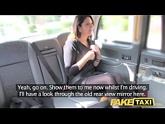 Fake Taxi big facial cum shot for brunette in s...