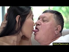 Asian beauty have sex with grandpa