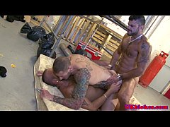 British muscled hunk double penetrated
