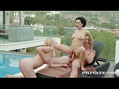 PRIVATE com Curly Stacy Bloom & Babe Amaris Dicked Poolside!