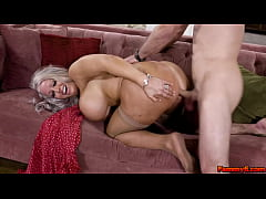 Pervy mature mom wants to try her stepsons fuck...