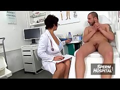 European uniform lady Marta tugg-job at hospital