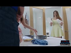 Housewife MILFs both cook a pie for the big dic...