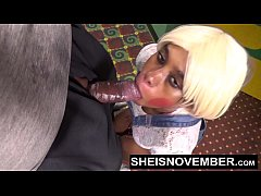 Sheisnovember Redbone Taking Cumshot Facial In Eye In Public Movie Theater Hall From Step Dad