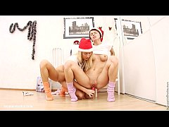 Christmas lesbians have fun...