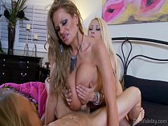Big Titted Blondes In A Nasty Threesome