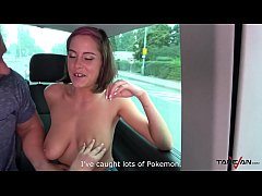 Super hot pokemon hunter busty babe convinced t...