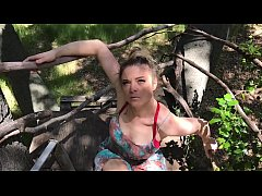MILF helps her stepson cum in his treehouse