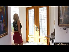 Mature beauty seduces a younger lover