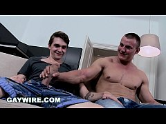 GAYWIRE - Big Bear Bareback Anal Pounded By Petite Man With Beautiful Huge Cock!