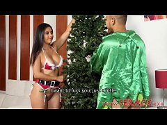 Silvia Santez Christmas Threesome...