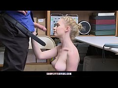 Clip sex Slender Blonde Teen Fucked By Loss Prevention Officer Over Thief