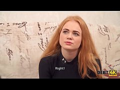 Debt4k. Sexy redhead Rose Wild pays for new TV with her wet holes