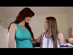 Scarlett Sage licking stepmoms...