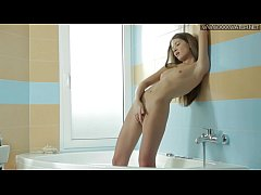 Viz Vasilisa makes hot masturbating scene in the shower bathtub