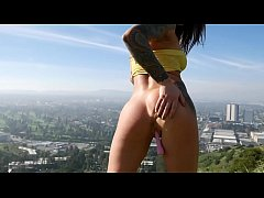 Felicity Feline outdoors public masturbation an...