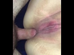 Clip sex Wife gets anal cream pie